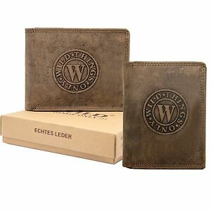 fc27470df93e1 Das Bild wird geladen Herren-Leder-Geldboerse-Geldbeutel-Brieftasche-Luxus- echt-Bueffelleder-