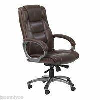 Alphason 'northland' Brown High Back Real Leather Executive Office Chair
