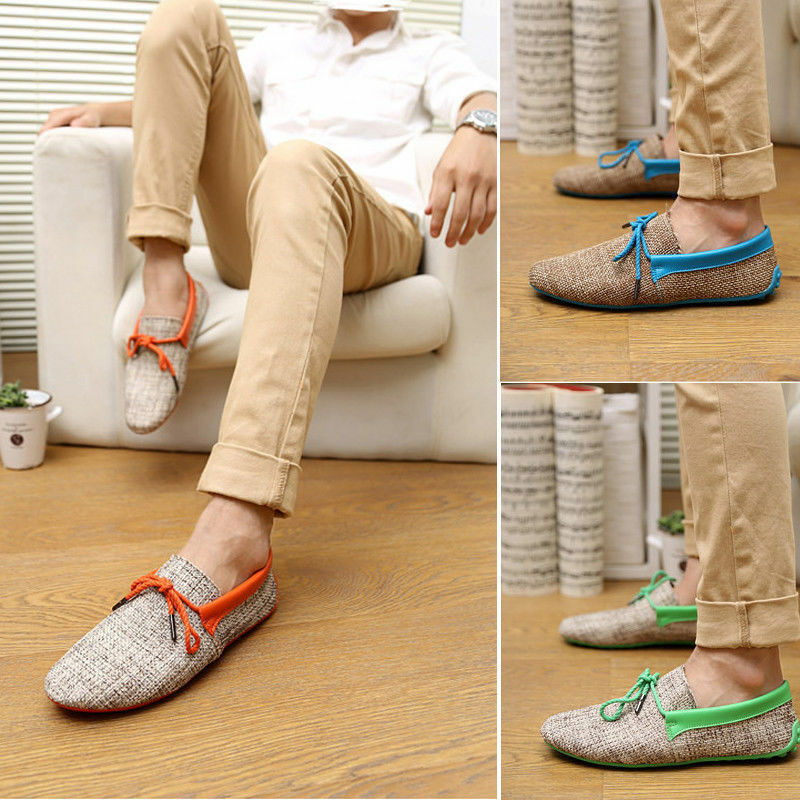 Men's Casual Breathable Flat Slip Ons Loafers Driving Moccasins Boat Shoes