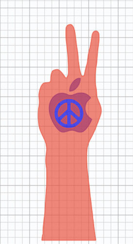 Peace Sign Vinyl Sticker Decal Macbook Pro window laptop USA world hippy love
