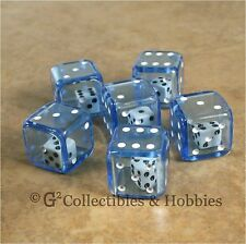 NEW Set of 6 BLUE Double Six Sided Dice Game RPG Math D6