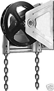 Garage Door Chain Hoist Wall Mount Gear Reduced