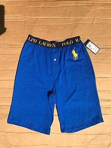 38 Polo Ralph Lauren L087 Ug Men s Lounge Pajama Short BLUE NAVY ... 05ac496d2