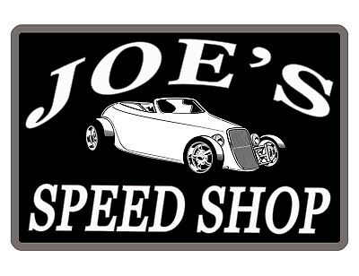Personalized SPEED SHOP CAR Sign *YOUR NAME* HI GLOSS Aluminum FULL COLOR SS#511