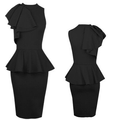 2015 Womens Sexy Black Bodycon Cocktail Party Evening Slim Pencil Formal Dresses