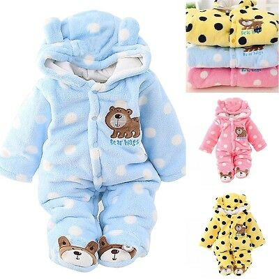 Newborn Baby Girl Boy One Piece Cute Clothes Romper Winter Outwear Outfits 3-18M