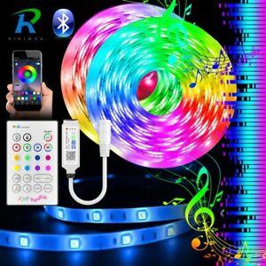 10m-20M-5050-RGB-LED-Strip-Bluetooth-Light-Music-Sync-APP-Remote-Switch-Power