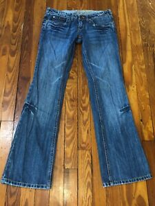 YAG-Jeans-Size-3-Ultra-Low-Rise-Distressed-Bootcut-Faded-Razored