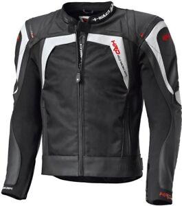 NEU-HELD-Hashiro-Lederjacke-Leder-Textiljacke-Gr-54-schwarz-weiss-Motorradjacke
