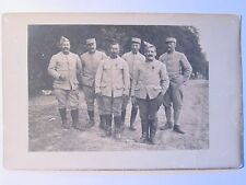 12C1 CARTE POSTALE PHOTO PORTRAIT GROUPE DE POILU 2 e RI SUR LE FRONT 14/18