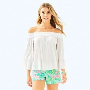 a3f2a6733ef390 Image is loading Lilly-Pulitzer-Moira-Off-The-Shoulder-Top-Embroidered