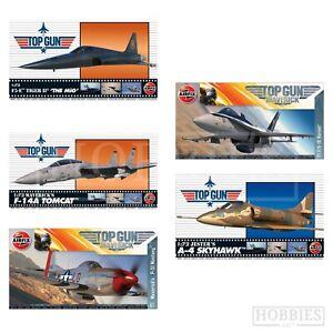 Airfix Top Gun 1:72 Model Kits Mavericks Aircraft Planes F-14A F/A18 P51 Mustang