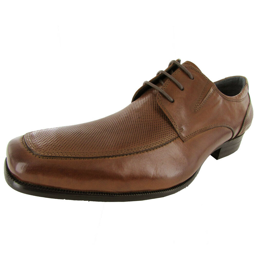 Kenneth Cole New York Mens Date N Time Leather Lace Up Oxford