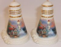 Lenox Kinkade Lighthouse Beacon Of Hope Salt Pepper Shaker Set 2002