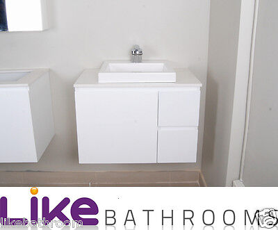 clearance sale @750 Wall Hung Bathroom Polyurthane Vanity Cabinet Only