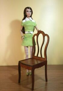"Chair for Tonner BJD dolls 16/"" 1//4 scale furniture wooden OOAK 2020 V23"