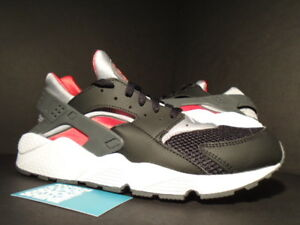 2015 Nike AIR HUARACHE JD SPORTS EUROPE BLACK WOLF GREY RED WHITE ... 8d2a94b353