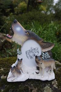 Mo0190 Figurine Statuette Famille Cadre Loup Louve Animal Sauvage Qnvno5ra-07224819-823552171