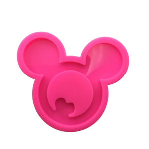 Shiny Mouse Head Pendant Mold Silicone Molds for Epoxy Crafts Resin Craft Mold