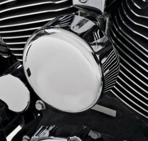Chrome Round Smooth Horn Cover For 1991-2018 Harley
