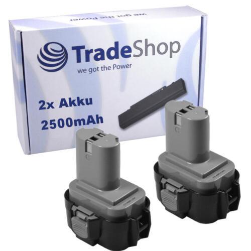 2x professionnel Batterie pour Makita 9,6v 2500mah remplace 9120 9122 9133 9134 9135 1925958