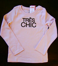 GYMBOREE Tres Fabulous Pink Cotton Sequin Tres Chic Tee Top Girls 6 NEW