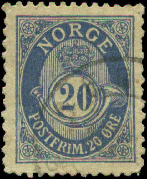 Norway Scott #12 Used Europe Norway
