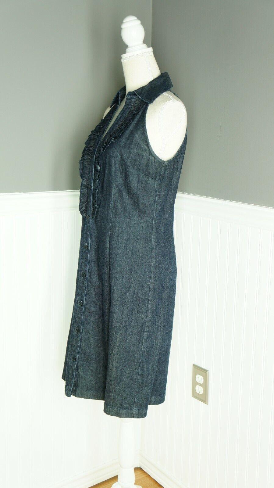 INC International Concepts Denim Midi Dress Dark … - image 4