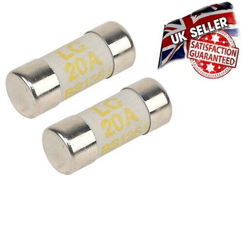 2 x LC20 20 Amp Cartridge Fuse BS1361 Consumer Distribution Board *UK Seller*