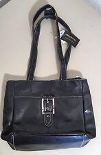 Women's D'Margeaux Black Hand Bag Purse Tote Handbag