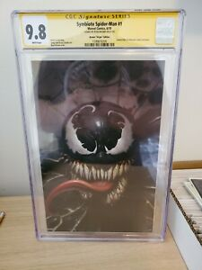 Symbiote-Spiderman-1-Ryan-Brown-Virgin-Variant-CGC-9-8-Signed-Only-2-On