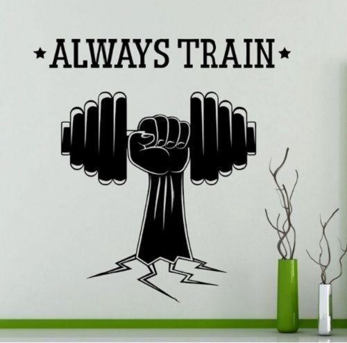 Eisenkette Gym fitness Wandtattoo Wallpaper Wand Schmuck 58 x 81 cm Wandbild