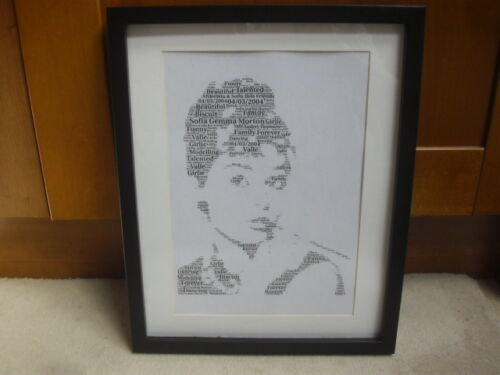 luxury POLICE word art with frames