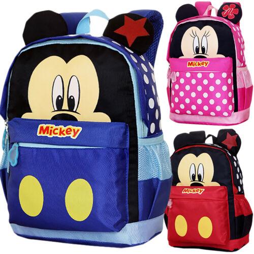 Kids Boys Girls Cartoon School Shoulder Bags Cute Mickey Mouse Backpack Rucksack