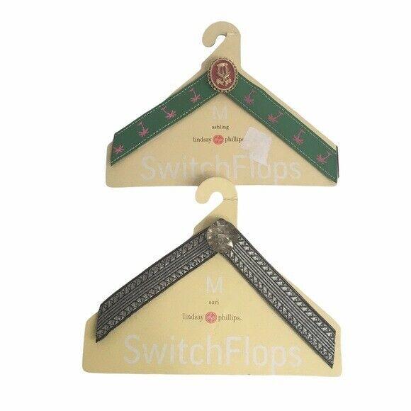 Switch Flops flip flop interchangeable straps. Size Medium 7/8 (2) sets