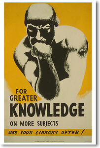 For-Greater-Knowledge-Use-Your-Library-Often-Read-Books-WPA-Print-NEW-POSTER