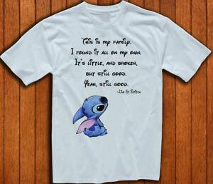 d5edaa8b Disney Lilo & Stitch Ohana Means Family Quote New T-Shirt Men's ...