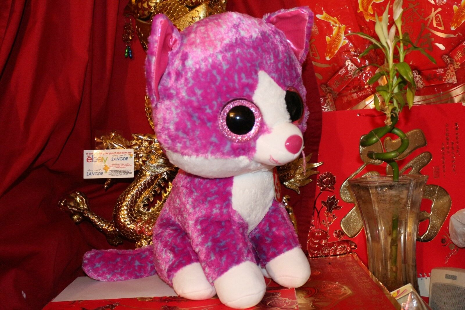 2f06d6fc1e5 CLAIRE S EXCLUSIVE.2017 TY BEANIE BOOS CHARLOTTE CHARLOTTE BOOS CAT.JUMBO.18  .