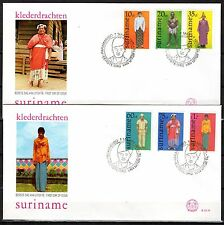 Suriname - 1978 Folklore dresses - Mi. 812-17 clean FDC's