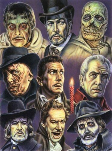 Vincent Price Horror B//W cross stitch chart buy 1 Get 1 Mitad De Precio
