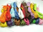Lot Mix de 10m de fil coton ciré de 1mm pour colliers sautoirs bracelets 10x1m