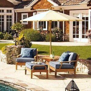 3 pc teak sofa set garden indoor outdoor patio furniture