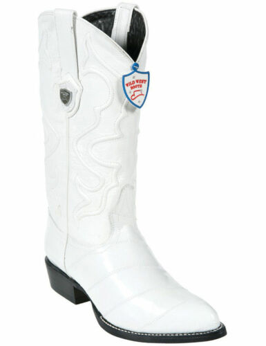 Wild Blanc West Véritable Anguille Western Cowboy Boot