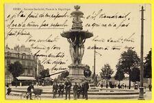 cpa REIMS 1914 Place de la REPUBLIQUE VÉLO GIRARDOT Frères Absinthe PREMIER Fils