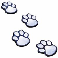 Ideaworks Jb7356 Solar Paw Print Lights (set Of 4), Black, New, Free Shipping on sale