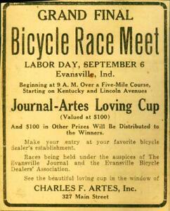 Advertising-Newspaper-Bicycle-Race-Meet-Evansville-Ind-Charles-F-Artes-1920