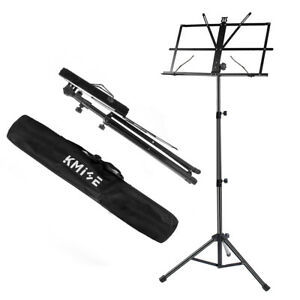 Adjustable-Foldable-Sheet-Music-Stand-Holder-Tripod-Base-Metal-with-carry-bag