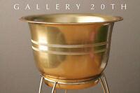 MID CENTURY MODERN ATOMIC TRIPOD BULLET PLANTER! Eames Vtg Kimball 50 Brass Gold