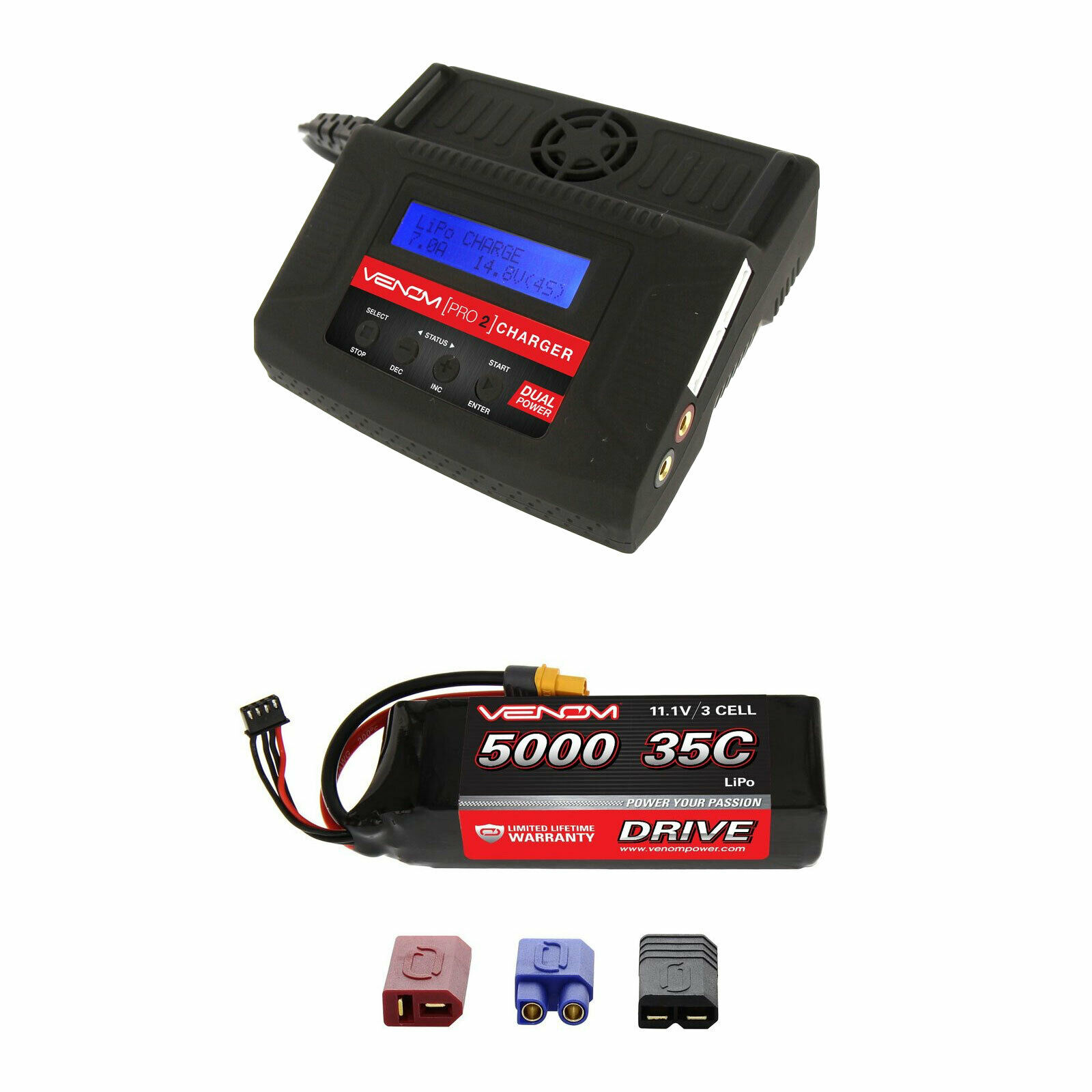 Venom 35C 3S 5000mAh 11.1V batería LiPo con Pro 2 Cargador Combo