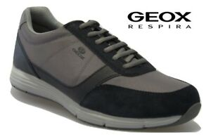 Dettagli su Scarpe da uomo GEOX sneakers estive traspiranti camoscio casual comode U927X6A
